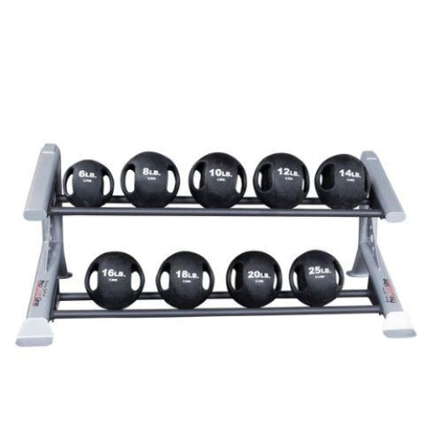 Body-Solid Pro Club Line 2 Tier Medicine Ball Rack #SDKR500MBR - Medicine Balls
