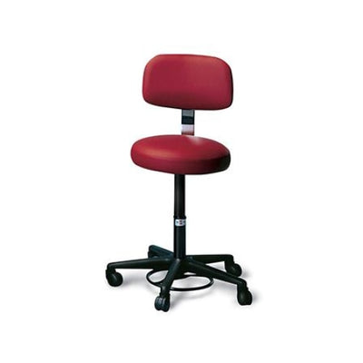 Hausmann Air-Lift Stool with Foot Control and Backrest #2143 - Stools