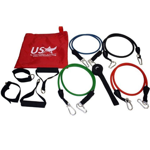 USA Sports X-Bands Rubber Resistance Band Set - Rubber Resistance