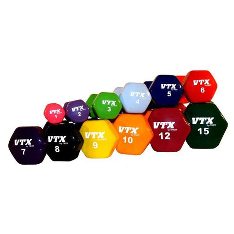 VTX Vinyl Hex Dumbbells - Coated Dumbbells