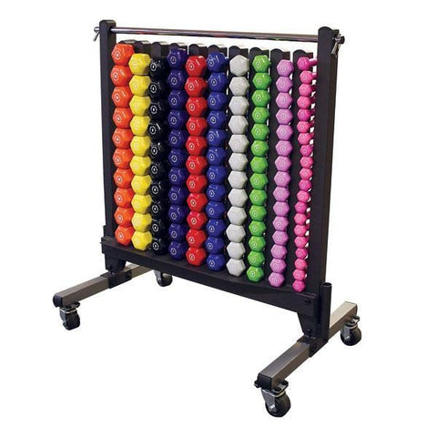 Body Solid Vinyl Dumbbell Rack #GDR500 - Storage