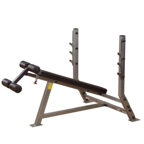 Body-Solid Decline Olympic Bench #SDB351G - Body Solid Pro Club Line