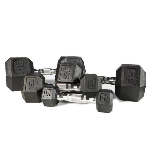 Premium PVC Hex Dumbbell SET 5-50 LBS.