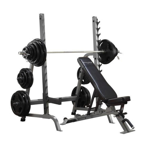Body-Solid Pro Club Line Olympic Press System #SDIB370 - Body Solid Pro Club Line