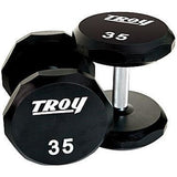 Troy Urethane Encased 12 Sided Dumbbells - Urethane Coated Dumbbells