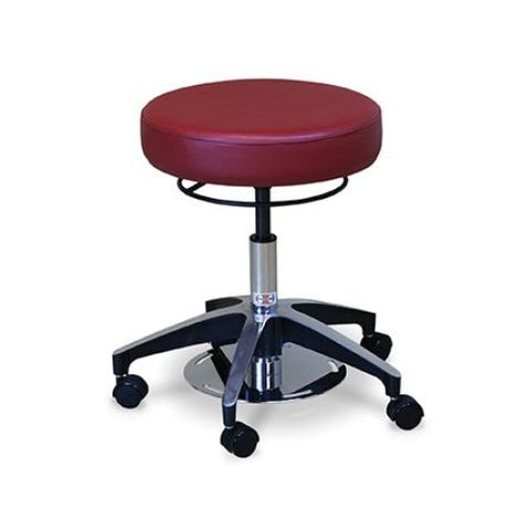 Hausmann Dual Foot and Hand Operated Air-Lift Stool #2154 - Stools