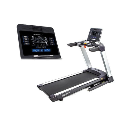 BodyCraft T400 Folding Treadmill - 9 LCD - Treadmills
