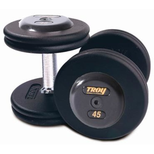 Pro Style Dumbbells Black Rubber End - Straight Handle - Pro Style Dumbbells