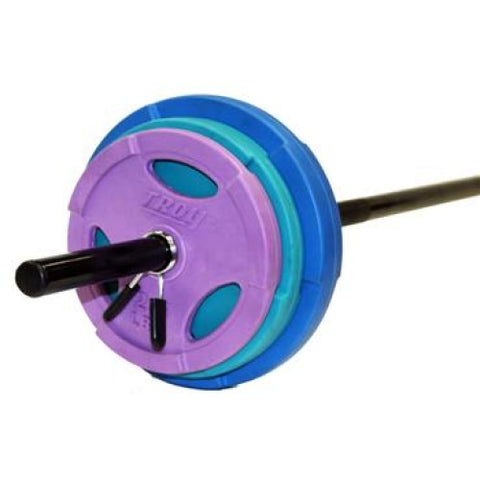 Troy Barbell Color Workout Strength Training Set TLW-40G - Barbells