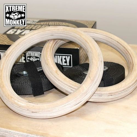 Xtreme Monkey Wood Gym Rings - CrossFit Accessories