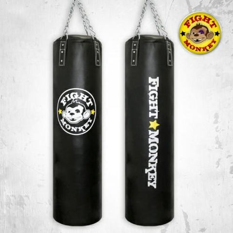 Fight Monkey 100 lbs Commercial Heavy Bag - Full Commercial PVC - Boxing & MMA