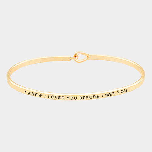 I Knew I Loved You (Elegant Hook) Bracelet