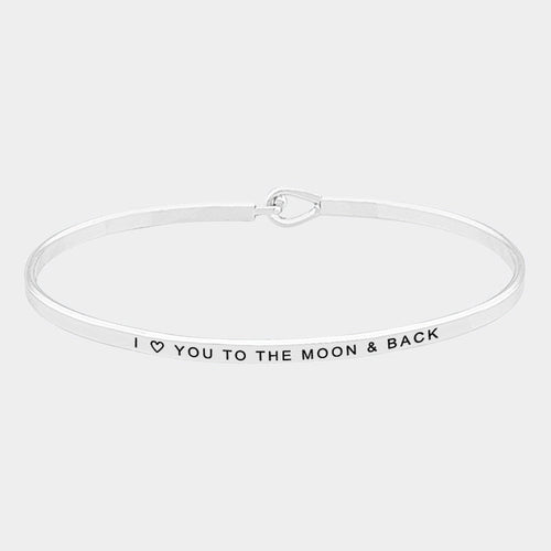 Love You to The Moon & Back (Elegant Hook) Bracelet