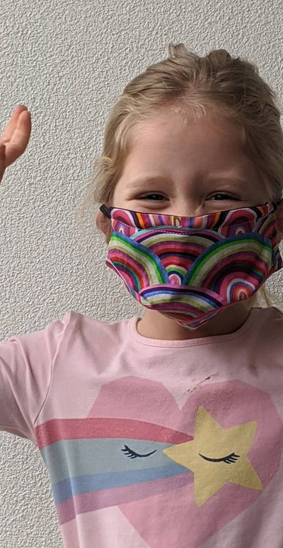 kids triple layer face mask made in australia