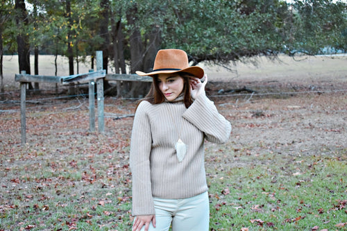 Janey Sweater in Taupe