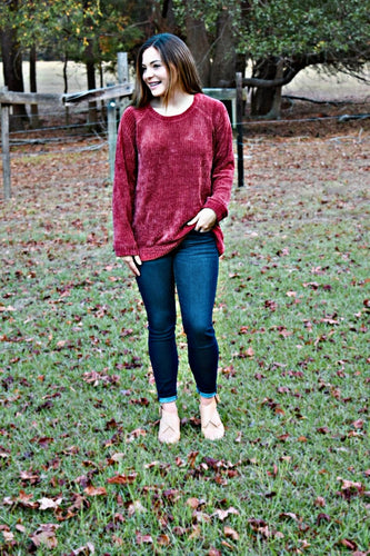 Lucille Velvet Sweater