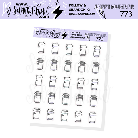 773 - Pastel Prescription Sticker Sheet