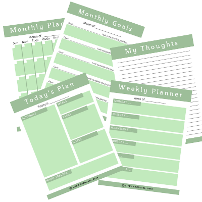 Modern Green Printable Planner Pages - 2 SIZES!