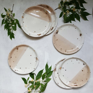 Drops of Honey Dessert Plates - Apricity Ceramics