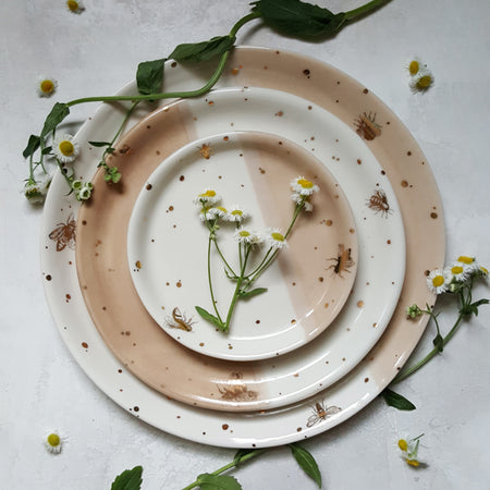 Drops of Honey Dinner Set (Dinner Plate, Salad Plate, and Dessert Plate)