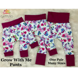 Grow With Me Pants ~ Butterflies