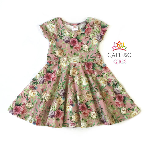 Floral Twirl Dress ~ Pink