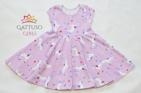 Twirl Dress ~ Pink Unicorns