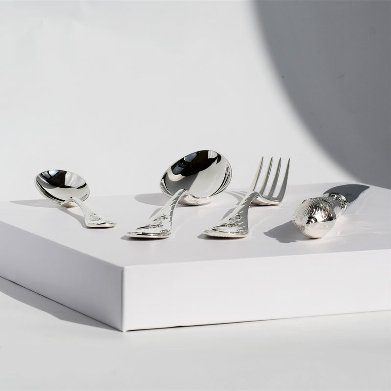 Exclusive Silver Plated Cutlery Family Set 24 Pieces | Design Versailles