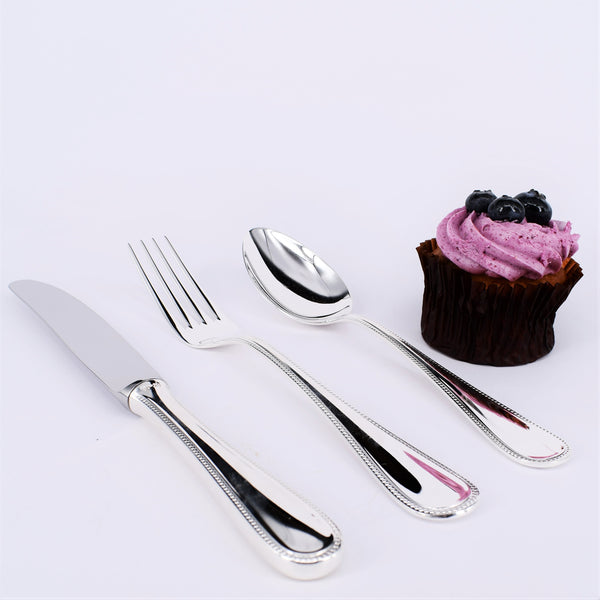 Exclusive Silver Plated Cutlery Family Set 24 Pieces | Design Perl