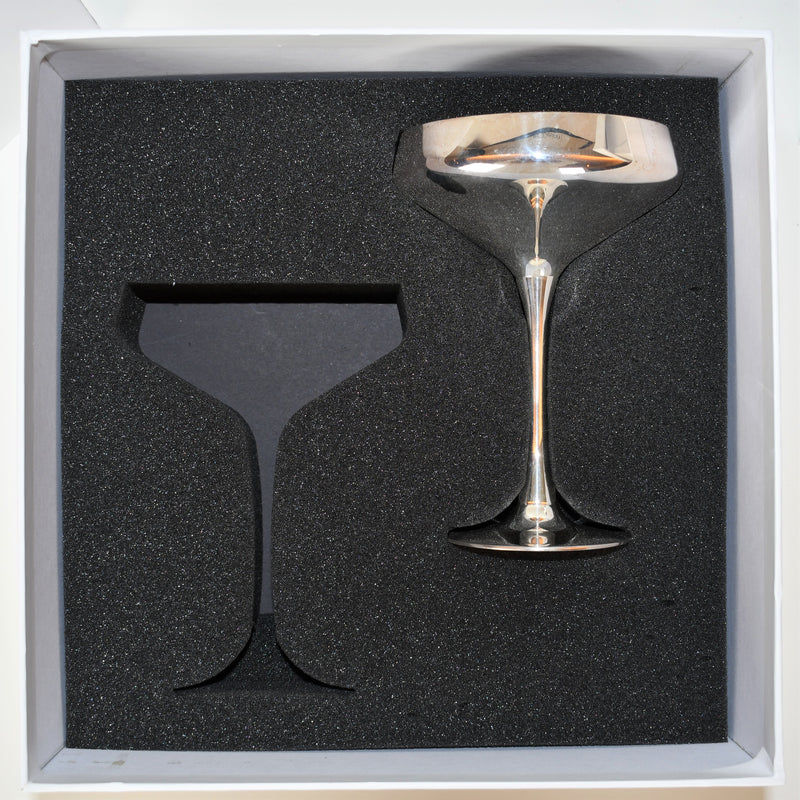 Silver Plated Champagne Coupe | Set of 2