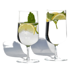 Water Crystal Glass, Set of 2 | Wasser Kristalglas, 2er Set