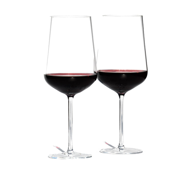 Crystal Red Wine Glass, Set of 2 |  Kristallglas Rotwein Set 2er (21-424-001CG)