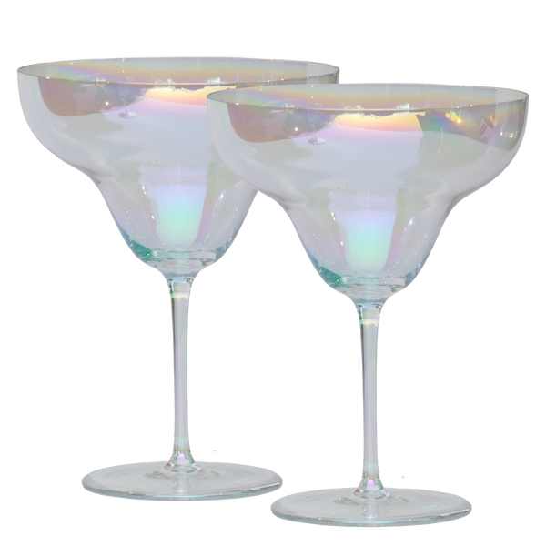 Rainbow Crystal Cocktail Glass | Margarita Set of 2