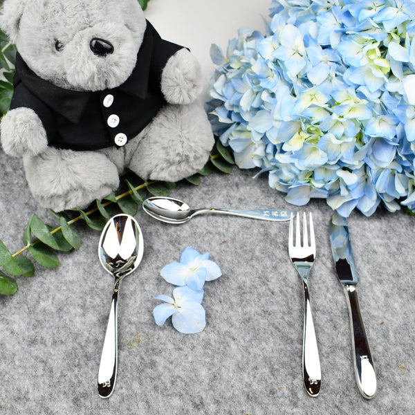 Exclusive Silver Plated Cutlery 4 psc Set | Children