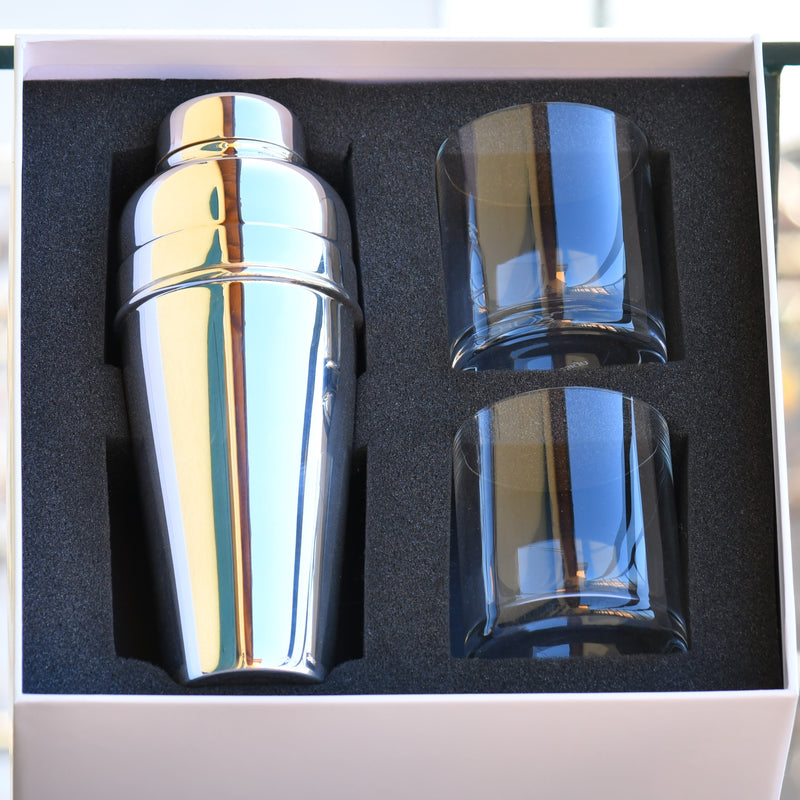 Cocktail Shaker Set Silverplated |  Cocktail Shaker Set Versilbert