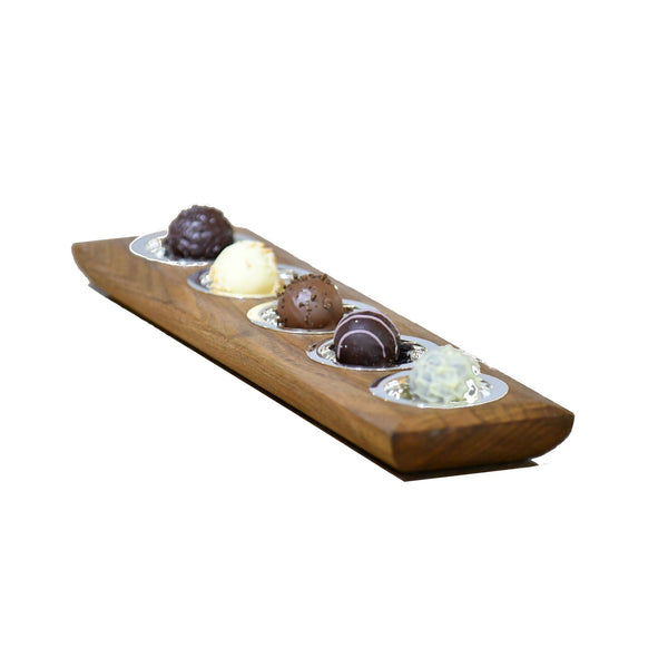Sweets Tray | Exclusive Silverplated + Wood