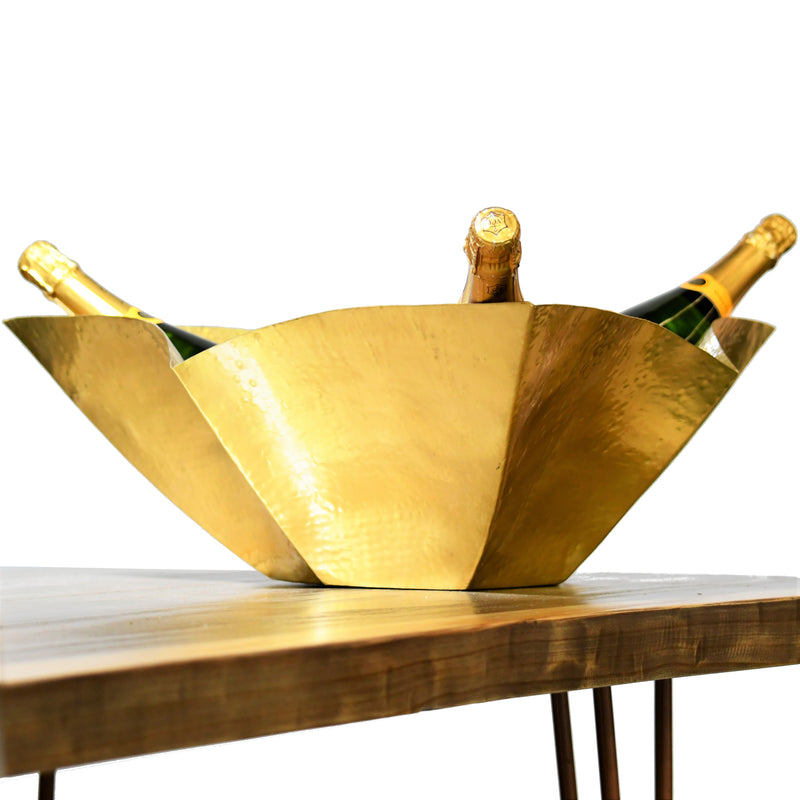 Multiple Champagne Cooler | Gold tone