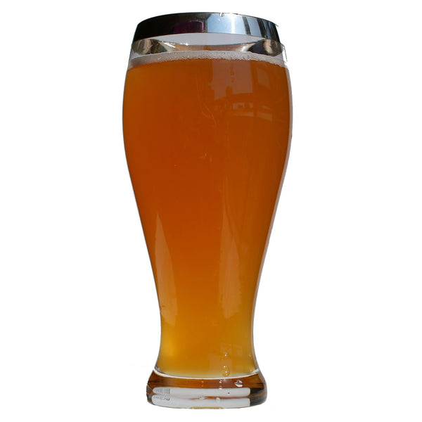 Crystal Glass Weizen Beer with Pure Silver Rim | Set of 2