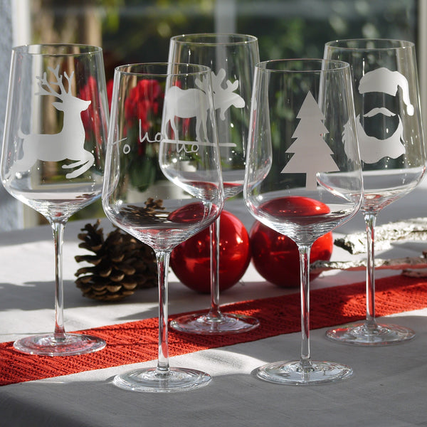 Crystal Glass | Red Wine Set of 2 - Christmas Mix & Match: Tree