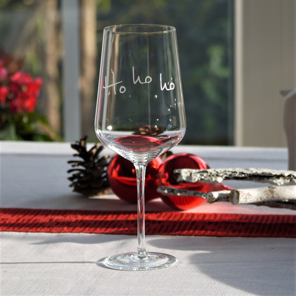 Crystal Glass | Red Wine Set of 2 - Christmas Mix & Match: Hohoho