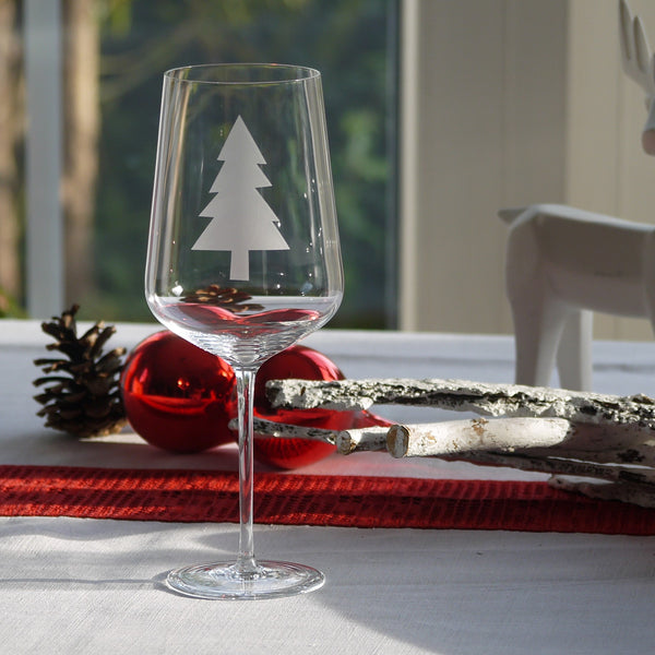 Crystal Glass | Red Wine Set of 2 - Christmas Mix & Match: Tanne