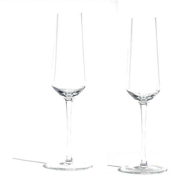 Crystal Glass Champagne Flute | Set of 2
