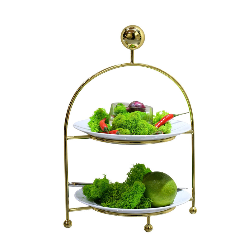 Cake stand - gold tone | Etagere - goldfarben