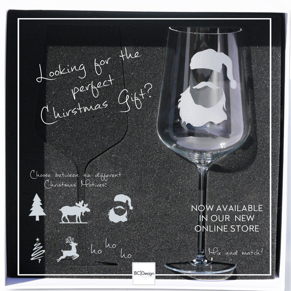 Crystal Glass | Red Wine Set of 2 - Christmas Mix & Match: Santa