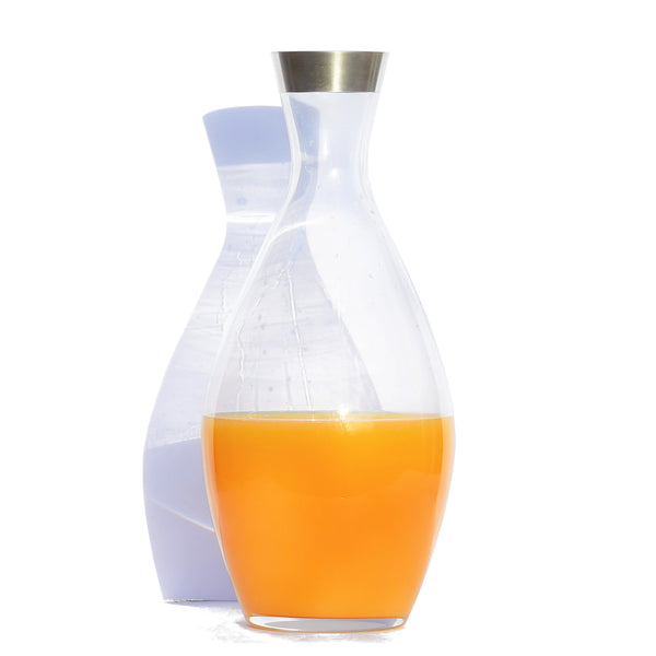 Crystal Glass Carafe with pure silver rim