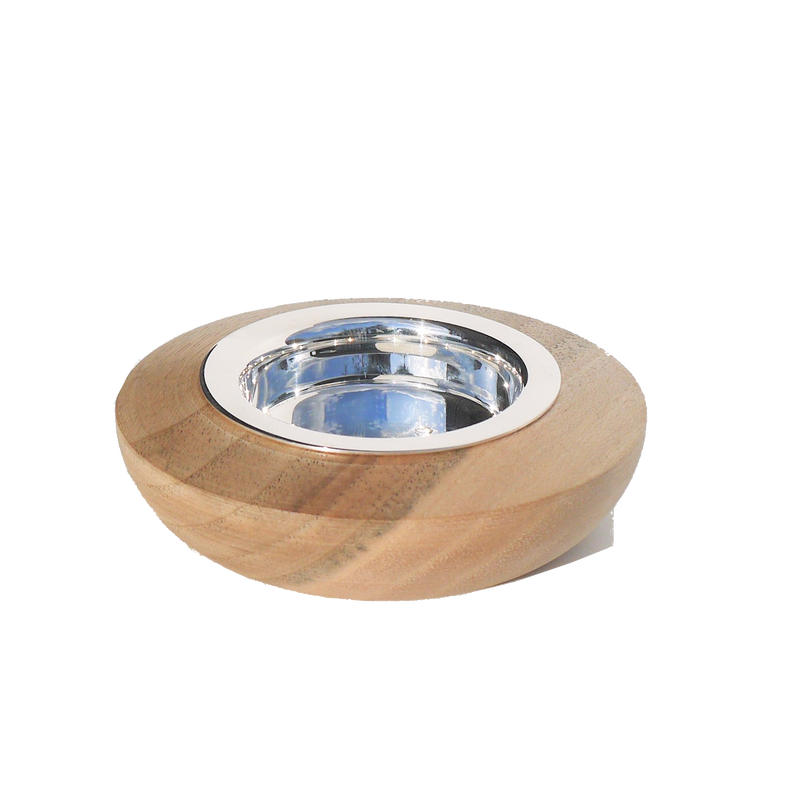 Tealight Holder | Exclusive Silverplated + Wood