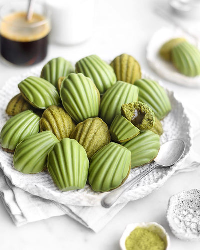 Recipe Ideas: Matcha Madeleines filled with matcha sauce