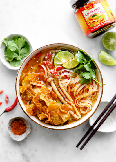Recipe Ideas: Tom Yum noodle soup with wontons