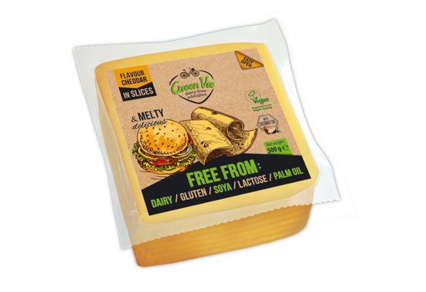 Cheddar Slices BULK - Green Vie - vegan-perfection-retail