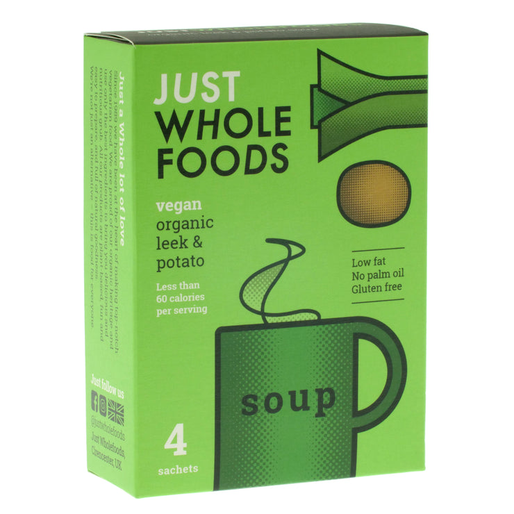 Organic Potato & Leek Soup - Just Wholefoods - vegan-perfection-retail